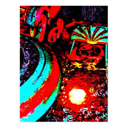 """""""Triton Fountain Two"""" JTG Art Postcard"""