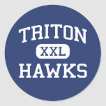 Triton - Hawks - High - Erwin North Carolina Classic Round Sticker