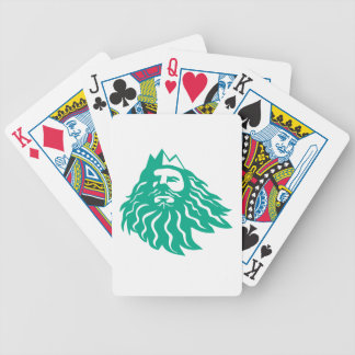Triton Looking Up Retro Bicycle Playing Cards