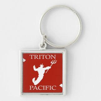 Triton Pacific Logo Keychain