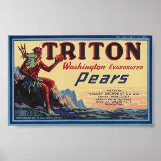 triton pears poster