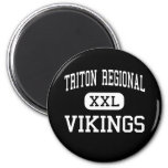 triton regional - vikings - high - Byfield Refrigerator Magnet