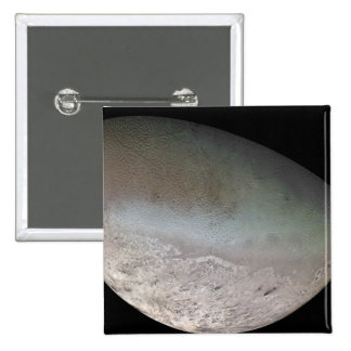 Triton, the largest moon of planet Neptune 2 Inch Square Button