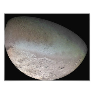 Triton, the largest moon of planet Neptune Photo Print