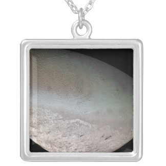 Triton, the largest moon of planet Neptune Square Pendant Necklace