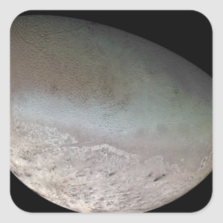 Triton, the largest moon of planet Neptune Square Sticker