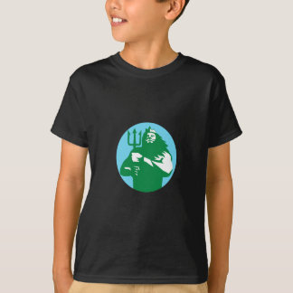 Triton Trident Circle Retro T-Shirt