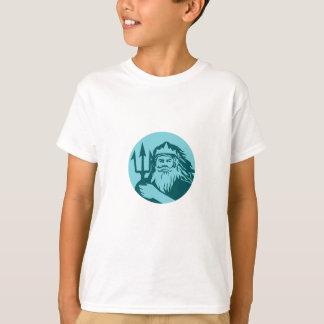Triton Trident Front Circle Retro T-Shirt
