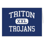 Triton - Trojans - High School - Bourbon Indiana Card