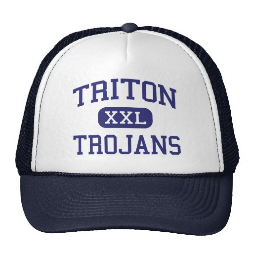 Triton - Trojans - High School - Bourbon Indiana Mesh Hats