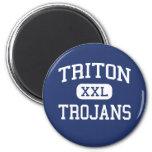 Triton - Trojans - High School - Bourbon Indiana Refrigerator Magnets