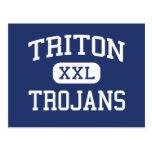 Triton - Trojans - High School - Bourbon Indiana Post Card