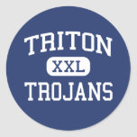 Triton - Trojans - High School - Bourbon Indiana Sticker