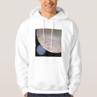 Triton with Neptune in the background NASA Hoodie