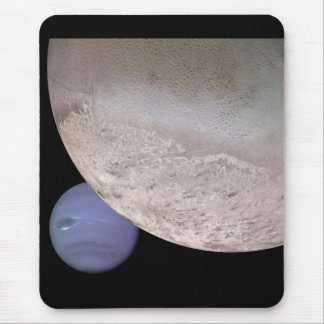 Triton with Neptune in the background NASA Mouse Pad