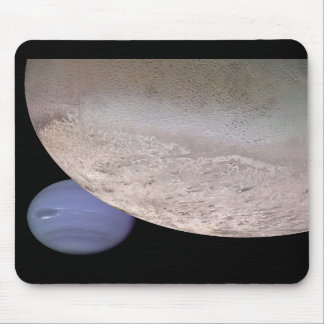 Triton with Neptune in the background NASA Mouse Pads