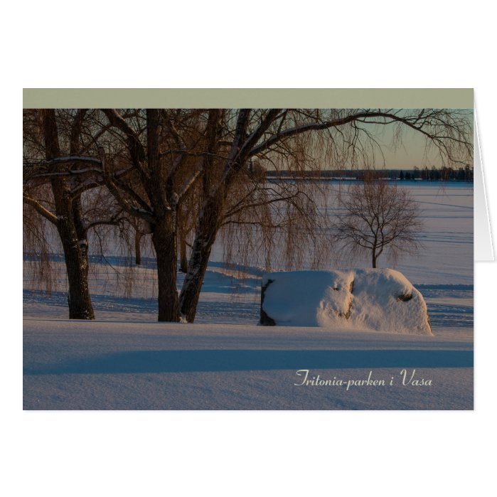 Tritonia-parken i Vasa Vaasa Finland CC0837 Greeting Card