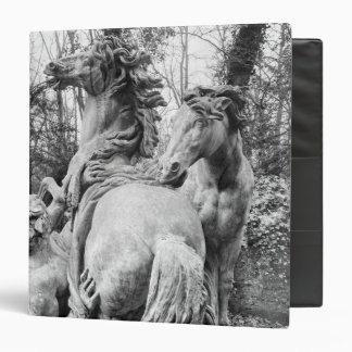 Tritons grooming two horses of the sun binder