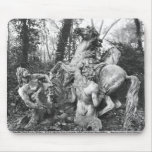 Tritons grooming two horses of the sun in grove mouse pad