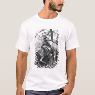 Tritons grooming two horses of the sun in T-Shirt