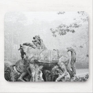 Tritons grooming two horses of the sun mouse pad