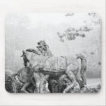 Tritons grooming two horses of the sun mousepads