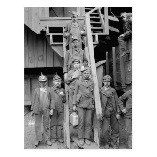 Triturador Boys, 1900 del carbón Postal