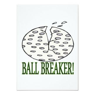 Triturador de bola invitación 12,7 x 17,8 cm