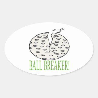 Triturador de bola calcomania oval personalizadas