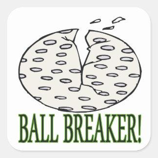Triturador de bola pegatinas cuadradases personalizadas