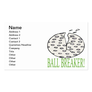 Triturador de bola plantillas de tarjeta de negocio