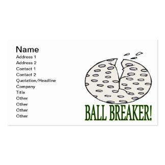 Triturador de bola tarjetas de negocios