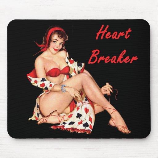 Triturador del corazón alfombrillas de raton