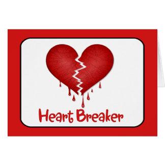 Triturador del corazón con el texto tarjetón