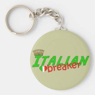 Triturador italiano del corazón con la corona llavero redondo tipo pin