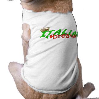 Triturador italiano del corazón con la corona playera sin mangas para perro