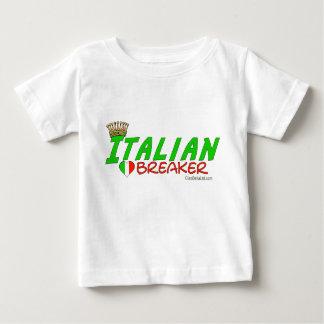 Triturador italiano del corazón playera de bebé