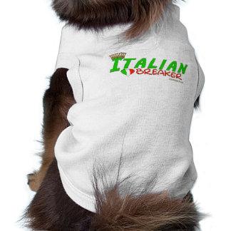 Triturador italiano del corazón playera sin mangas para perro