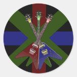 Trituradora de la guitarra del vuelo V Etiqueta