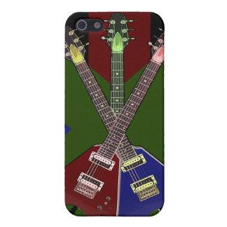 Trituradora de la guitarra del vuelo V iPhone 5 Fundas