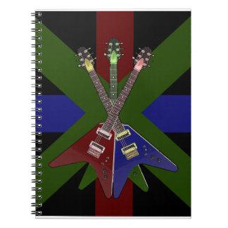 Trituradora de la guitarra del vuelo V Note Book