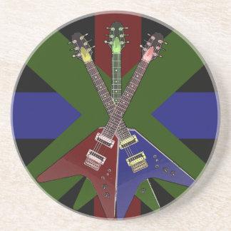 Trituradora de la guitarra del vuelo V Posavasos De Arenisca