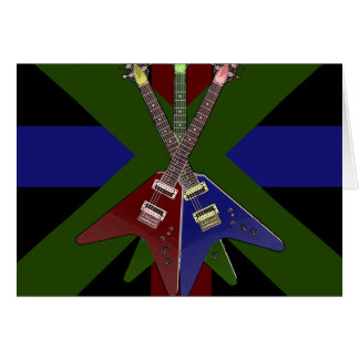 Trituradora de la guitarra del vuelo V Tarjeta De Felicitación