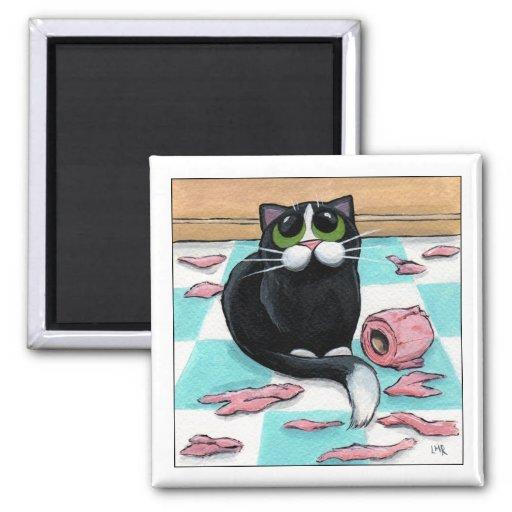 Trituradora de papel - imán del gato