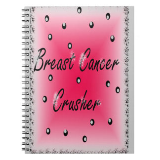 Trituradora del cáncer de pecho libro de apuntes con espiral