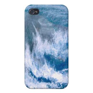 Trituradores del océano - iPhone del arte del océa iPhone 4 Protectores