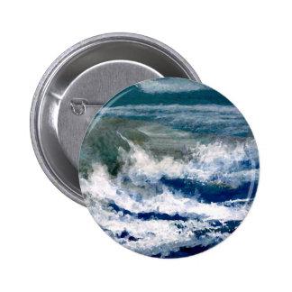 Trituradores en el arte de las olas oceánicas del  pin