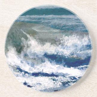 Trituradores en el arte de las olas oceánicas del posavasos manualidades