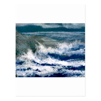 Trituradores en el arte de las olas oceánicas del tarjeta postal