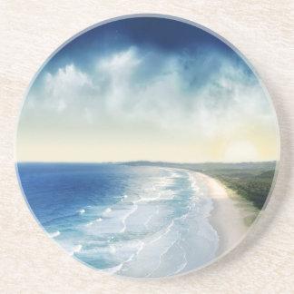Trituradores oceánicos del agua posavasos personalizados